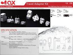 Travel Adapter Kit Ipod, Phone, Eu And Uk, Galaxy S2, Tech Accessories, Blackberry, Usb, Travel, Telephone