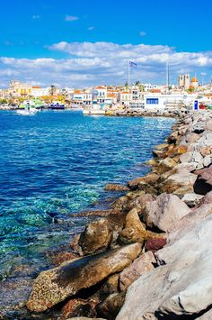 Aegina is one of the Saronic Islands of Greece in the Saronic Gulf, 27 km (17 mi) from Athens.