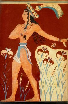 Minoan Men's dress: Most often wore skirts. Skirts that ended at the thigh.