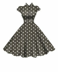 Brown Rockabilly Dress