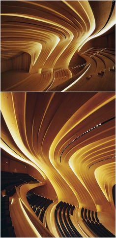 Theater Architecture, Concept Architecture, Amazing Architecture, Interior Architecture, Theatre Design, Hall Design, Zaha Hadid Architects, Deconstruction, Concert Hall