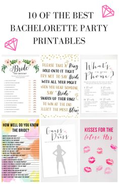 Witty image throughout printable bachelorette party games