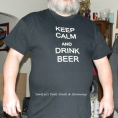 """""""Keep Calm and Drink Beer"""" – Beer Shirt  #Giveaway 3/14 Daily #US Come enter to win! http://wp.me/p2Zbi5-23e"""