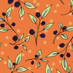 Brazenberries in Shimmering Sunset - Large Scale fabric by rhondadesigns on Spoonflower - custom fabric