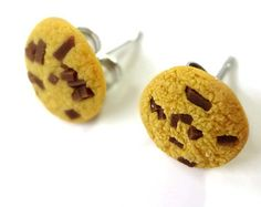 Miniature Chocolate Chip Cookie Earrings