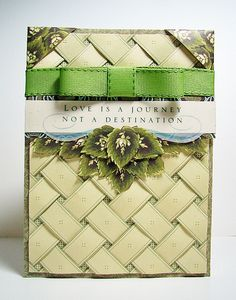 anna griffin cards ideas for christmas | The focus here was on some vintage ribbon and trim clear stamps and ...