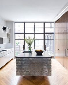 Our renovation of this Upper West Side residence incorporated elements spanning the full… Great Buildings And Structures, Modern Buildings, Upper West Side, Long Island City, Townhouse, Interior Design, Architecture, Manhattan, Falling Waters