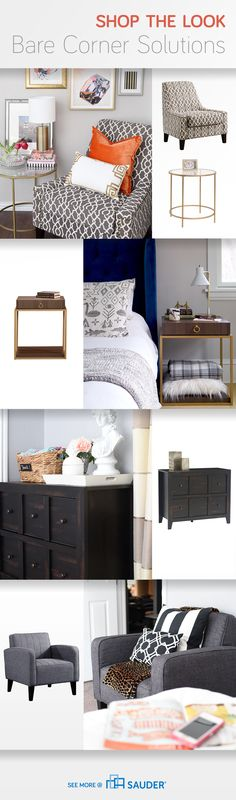 Confused on what to do with your bedroom bare corner? Not sure what might work in your empty space? Worry no more! From seating to entertainment storage, we've got tips to fill your barren bedroom corners. Click on through to see more beautiful bare corner solutions!