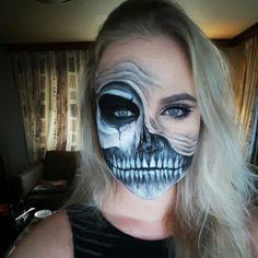 Skull by justjoke.mua #Skull #sfx #makeup #fx #face