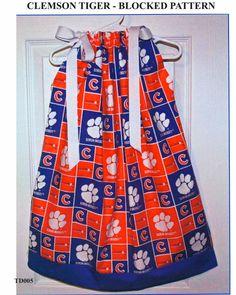 Featuring Clemson Tigers Pillowcase Dress by GiraffesJellybeans, $19.99