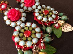 SALE 20 Off Long bohemian earring in by BeadedGardenJewelry, €46.40