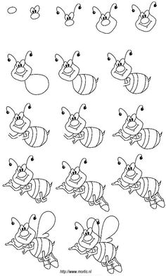 Drawing For Beginners Drawing for kids. A drawing lesson for children - a step by step drawing of a bee