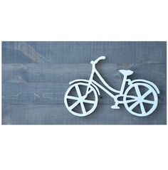 WOOD BICYCLE SIGN  Colour: Classic Grey/White  Size: 15x29  Material: Background is made from 1x4 pine. Bike is cut from 5/8 MDF (thick fibreboard)  Hanging hardware: Comes with 2 d-hooks attached for easy hanging.  Each piece is handmade in Muskoka, Canada by Muskoka Folk.com >> Inspired by Nature, Painted by Hand<<  *Item may not be exactly as shown. Each piece is unique due to variations in the wood (knots, grain, ect.).*