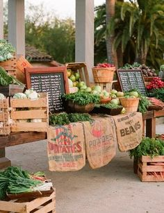 The space is all set up at today's farmer's market. #Country #Markets
