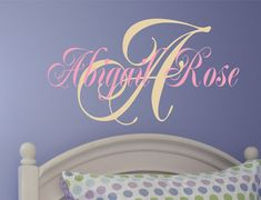 Childrens Wall Decal - Nursery Wall Decal -Girls Name Vinyl Wall Decal Personalized on Etsy, $18.00