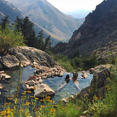 Goldenbug Hot Springs Idaho, USA 3 hr drive out, 3 mi steep hike up, secluded hot springs worth the effort, place to camp overnight