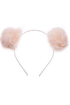 Women's Hair Accessories Hot Sweet Pom Fur Ball Furry Ears Fluffy Rabbit Fur Ball Women Headband Hair Band Head Accessory Fine Craftsmanship