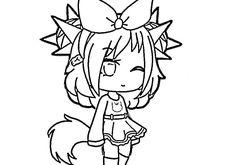 gacha coloring wolf bad anime kawaii chibi drawings neko colouringmermaid