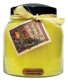 Lemon Butter Pound Cake Papa Jar Candle by A Cheerful Giver #zulily #zulilyfinds