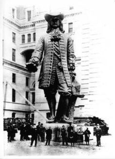 William Penn while he was still on the ground in Philadelphia