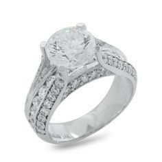 #Malakan #Jewelry - White Gold Semi-Mount Diamond Engagement Ring with Channel Setting 63375D #Bridal #Weddings #EngagementRings #Diamonds