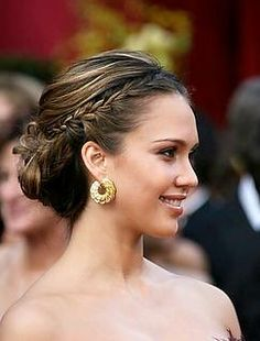 braid and a low up do.  loving. it.