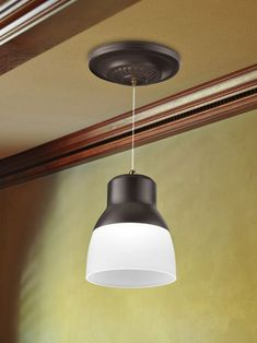 Pendant Light goes anywhere for instant, eye-catching lighting. In minutes, illuminate an entryway, or add task lighting over the kitchen sink or bathroom counter.