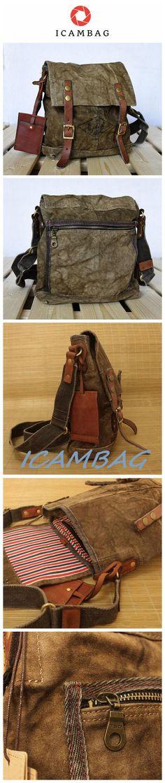 7ba1a3bc2193 Vintage Men Canvas Business Crossbady Bag 00182. ICAMBAG