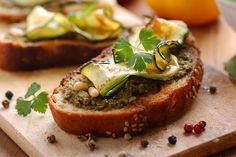 Zucchini Crostini Zucchini is good for they eyes. More