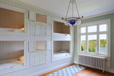 built in quad bunk beds for kids