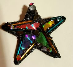 Signed by artist...1980s vintage hand crafted star brooch...valued at $25.00. Carol Lynn Sweets Collection