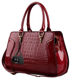 Hot Red Crocodile Doctor bag