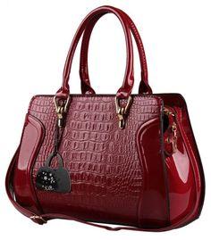 Hot Red Crocodile Doctor bag