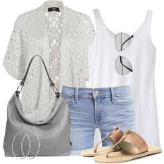 fa612fd23ace9 Short Sleeved Cardigan by wishlist123 on Polyvore featuring Steffen  Schraut