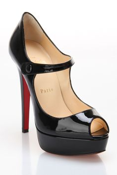 Louboutin Bana 140 Patent Pump In Black - Beyond the Rack - I always have and always will love, love, love these!