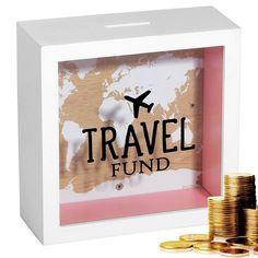 Travel Fund, Travel Box, Travel Gifts, Travel Shadow Boxes, Vacation Travel, Money Saving Box, Money Box, Savings Jar, Diy Shadow Box