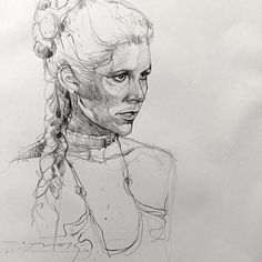 Quick sketch Princess Leia.