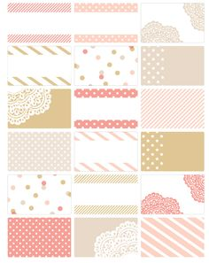 Free Chic favor labels and party set printables: