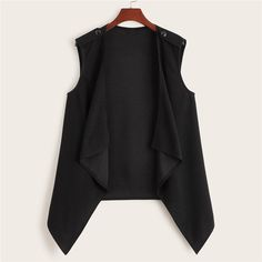 Plus Size Vests, Plus Size Outfits, Romwe, Plus Size Street Style, Chaleco Casual, Types Of Coats, Sleeveless Cardigan, Vest Coat, Duster Vest