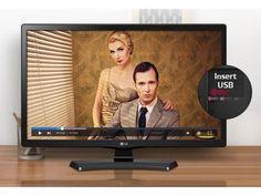 """Monitor TV LED 23,6"""" LG 24MT48DF-PS - Conversor Digital 1 HDMI 1 USB com as melhores condições você encontra no Magazine Margazineoliver. Confira!"""