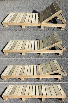 This wood pallet sun lounger is a simple but the most-attractive wood pallets pr… - Pallet Furniture Ideas Pallet Furniture Designs, Pallet Garden Furniture, Diy Outdoor Furniture, Diy Furniture, Garden Pallet, Palette Furniture, Furniture From Pallets, Furniture Removal, Furniture Vintage