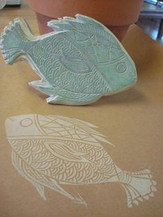 fish stamp by noraclemensgallo