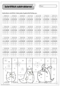 More sheets for the exercise series I have a little extra for you - science elementary Addition And Subtraction Worksheets, Math Subtraction, Kids Math Worksheets, Preschool Activities, Childhood Education, Kids Education, Dyscalculia, Elementary Science, Math Class