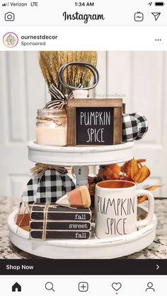 60 Elegant Fall home decor ideas with Pumpkins, Buffalo Checks & Ginghams to welcome the Harvest season - Ethinify Thanksgiving Decorations, Seasonal Decor, Fall Decorations, Fall Home Decor, Autumn Home, Delaware, Fall Plaid, Fall Table, Tray Decor
