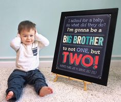 twin pregnancy announcement expecting twins sign promoted to big brother twins pregnancy reveal not one but two baby announcement Baby Number 2 Announcement, Baby Surprise Announcement, Pregnancy Announcement To Parents, Baby Announcement To Husband, Twin Babies, Baby Twins, Newborn Twins, Baby Baby, Twin Baby Photos