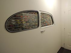 Just A Car Guy : Hot Wheels collection display case deluxe Car Furniture, Automotive Furniture, Automotive Decor, Furniture Plans, Miniature Auto, Deco Cars, Design Autos, Design Garage, Deco Originale
