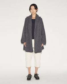 Shop Capote Coat from Lauren Manoogian at La GarÁonne. La GarÁonne offers curated designer goods from luxury and emerging designers. Outerwear Women, Outerwear Jackets, Capote Coat, Stylish Winter Coats, Fashion Capsule, Sweater Coats, Gray Jacket, Everyday Outfits, Coats For Women