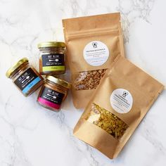 LiEBES (@liebesfoods) #granola #packaging #kraftpaper curated by Copious Bags™