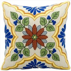 This Kathy Ireland pillow is constructed with fine workmanship, dazzling color sense and fashion forward finesse. Featuring an engaging design and a lustrous finish, this assortment is certain to add an easy and elegant accent to any decor.