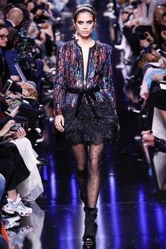 Elie Saab Fall 2017 Ready-to-Wear Fashion Show  - more edgy than usual, but still very feminine , sophisticated and beautiful.